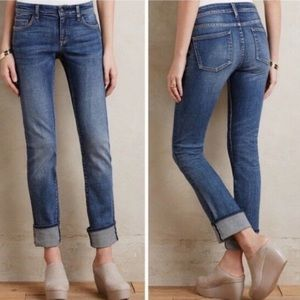 Anthro | Pilcro | Parallel Slim Jeans Sz 26